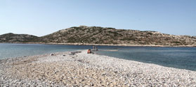Sandy beach of Agios Pavlos