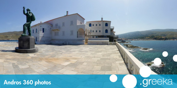 360 picture of Andros, Greece