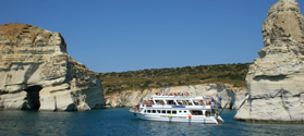 Tour around Milos by boat
