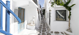 Cycladic street in Chora