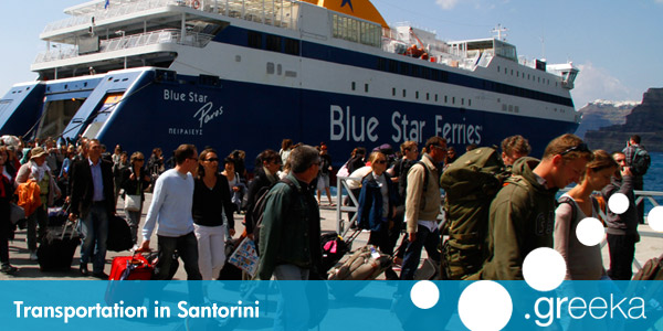Santorini transportation