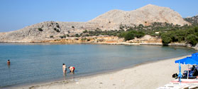 Organized beach of Potamos