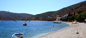 Sandy beach of Emporios