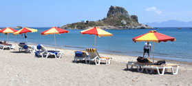 Sandy beach of Kefalos