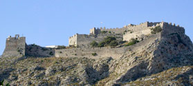 Imposing Medieval Castle of Leros