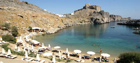 Lovely bay of Saint Paul in Lindos