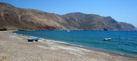Secluded beach of Eristos