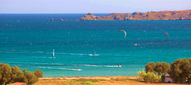 Windsurfing in Keros beach