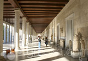 Stoa of Attalos Museum in Thissio, Athens