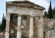 Treasury of the Athenians in Ancient Site, Delphi