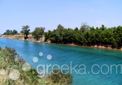 Lake of Polychrono in Polychrono, Halkidiki