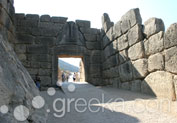 Lion Gate in Ancient Site, Mycenae