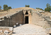 Treasury of Atreus in Ancient Site, Mycenae
