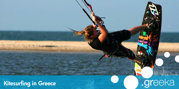 Greece  Kitesurfing