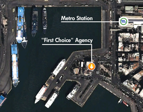 First Choice agency on Piraeus map