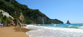 Sandy beach of Agios Gordis