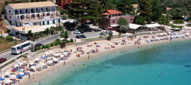 Beautiful beach of Paleokastritsa