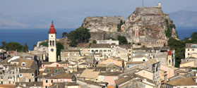 House roofs in Corfu Town