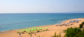 Sandy beach of Skala