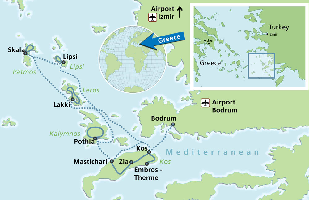 Biking Island Hopping tour to Central Aegean 8 days Greekacom