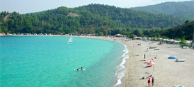 Crystal waters in Armenistis beach