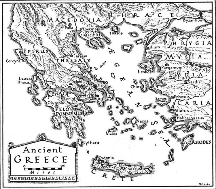 Ancient map of greece greeka ancient greece map gumiabroncs Gallery