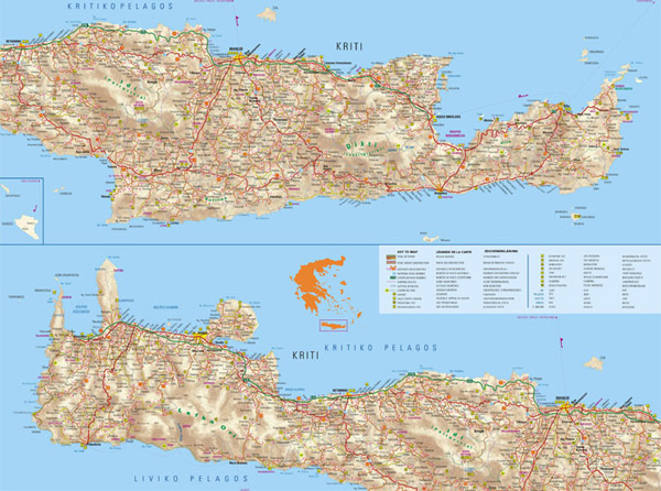 Crete map to download in high resolution Greekacom