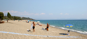 Sandy beach of Mavrovouni