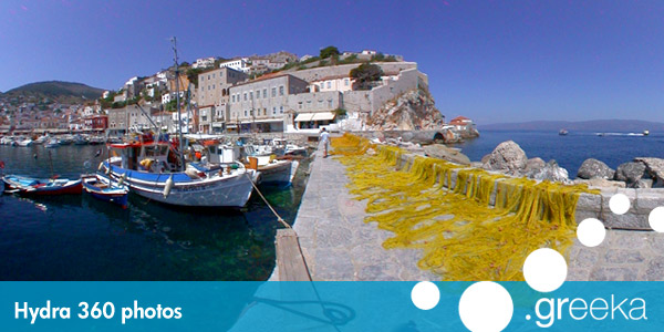 360 picture of Hydra, Greece