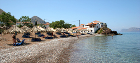 Pebbled beach of Vlichos