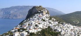View of Skyros Town