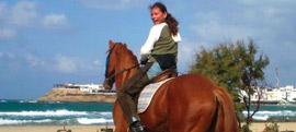 Horse riding in Greece