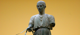 The bronze statue of Charioteer