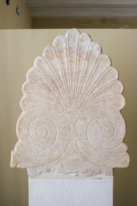 Archaeological Museum: An exhibit with unique decoration