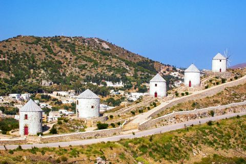 Traditional Windmills: Windmills are characteristic constructions of Leros island that attract the interest of visitors.
