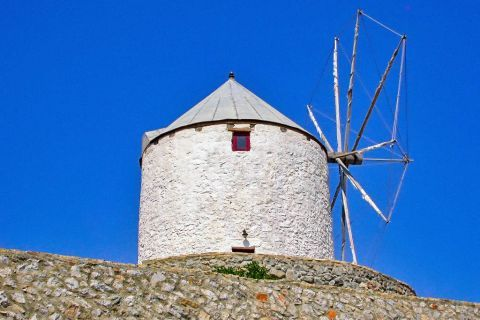 Traditional Windmills: In the past, windmills were used to convert the energy of the wind into more useful forms.