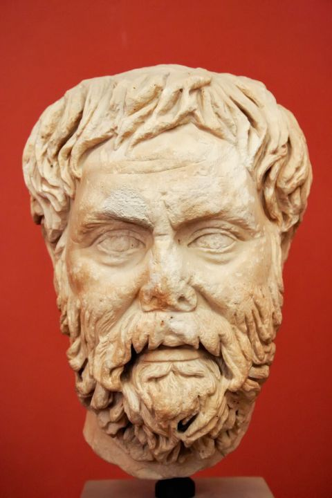 Archaeological Museum: Marble face from a man's statue