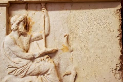 Archaeological Museum: Marble wall decoration