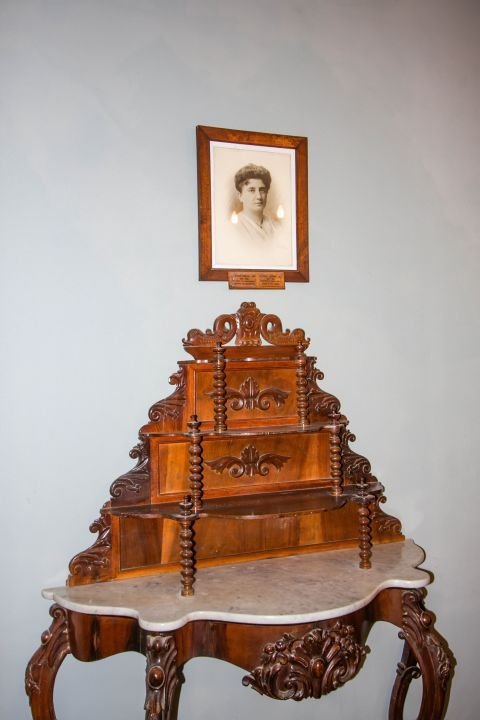 Iakovatios Library: An old-time wooden furniture