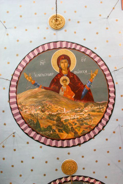 Monastery of Lagouvarda: An icon of Virgin Mary and Jesus as a baby