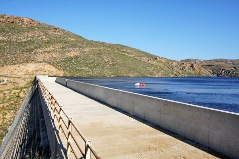Artificial Lake of Ano Mera Dam: The dam of Ano Mera in Mykonos has formed an artificial lake