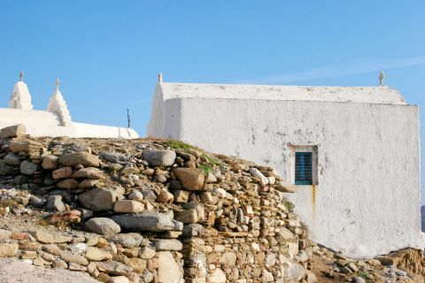 Chora Castle: The stone-built castle area in the Chora of Mykonos
