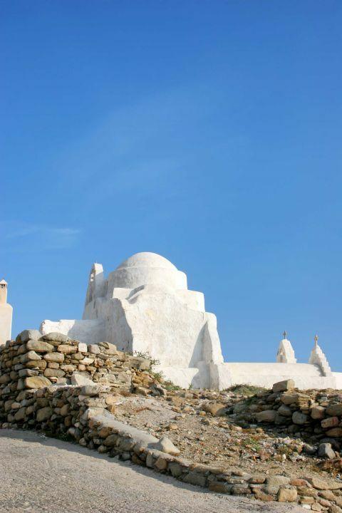 Chora Castle: Stone-built buildings inside the Castle of Mykonos