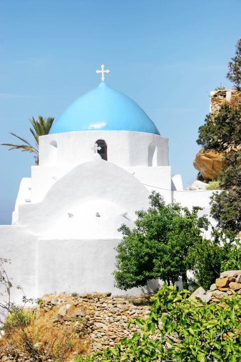 Panagia Gremiotissa: Panagia Gremiotissa is whitewashed with a blue-colored dome