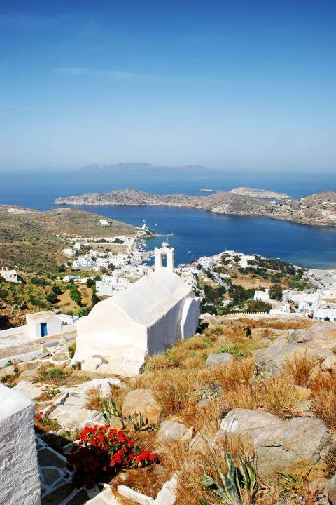 Panagia Gremiotissa: Panoramic view of Ios
