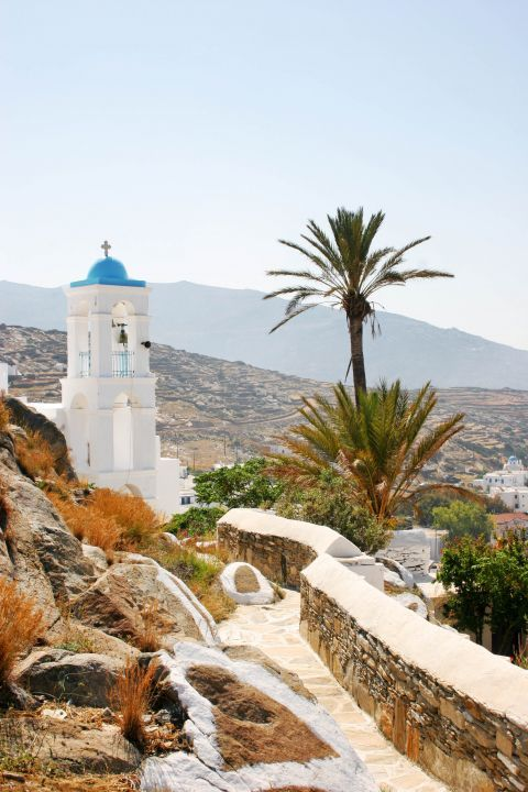 Panagia Gremiotissa: Panagia Gremiotissa stands out for the palm tree on its side