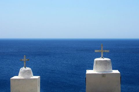 Twin chapels: View from the chapels