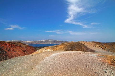 The wild landscape of Santorini