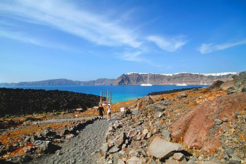 Volcano: Santorini's volcanic landscape