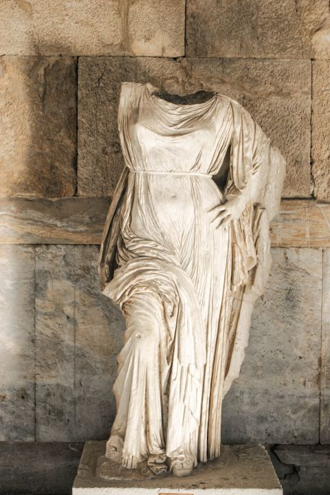 Ancient Agora: Statue in the Stoa of Attalos